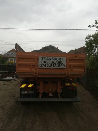 Transport basculabil în județul Brașov și Covasna. Camion. 4x4.