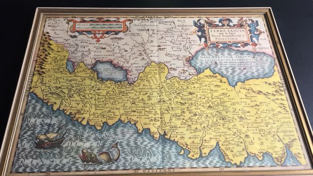 Harta veche Taramul Sfant Jodocus Hondius