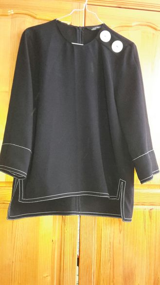 промоция!!!черно горнище Зара размер М, Zara, долнище С с бели детайли