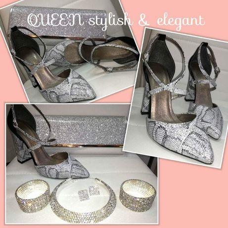 Разпродажба!!! Обувки с висок ток, НОВО!!!Номера от 35 до 39