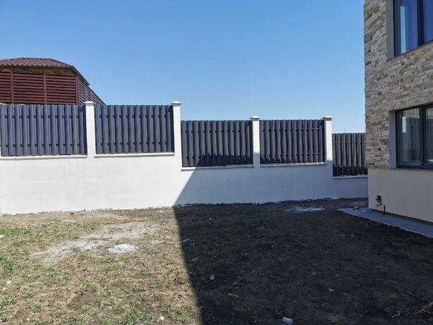Garduri si porti din sipca metalica si profile lamelare