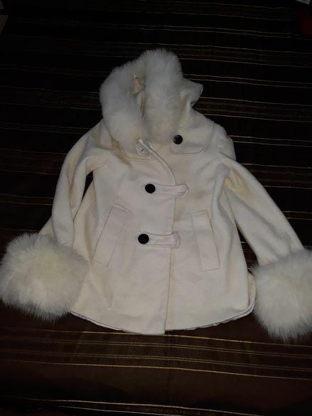 Бяло дамско палто