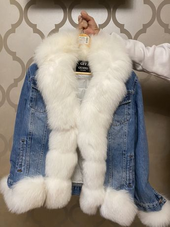 Jacheta cu blana naturala