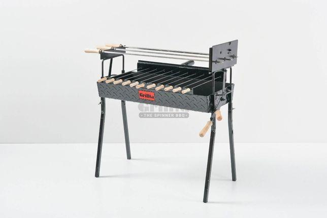 Gratar carbune BBQ cu 11 frigarui si 3 Rotiserie in LINIE - Hands Free