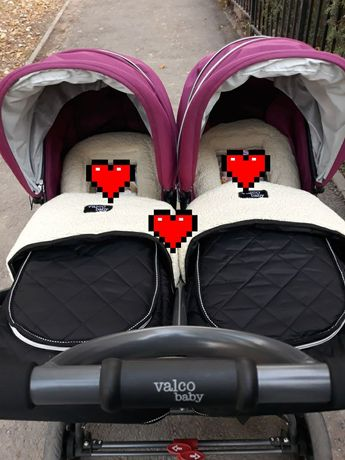 Коляска для двойни valco baby