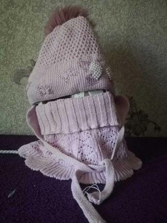 комплект зимний шапка + снуд