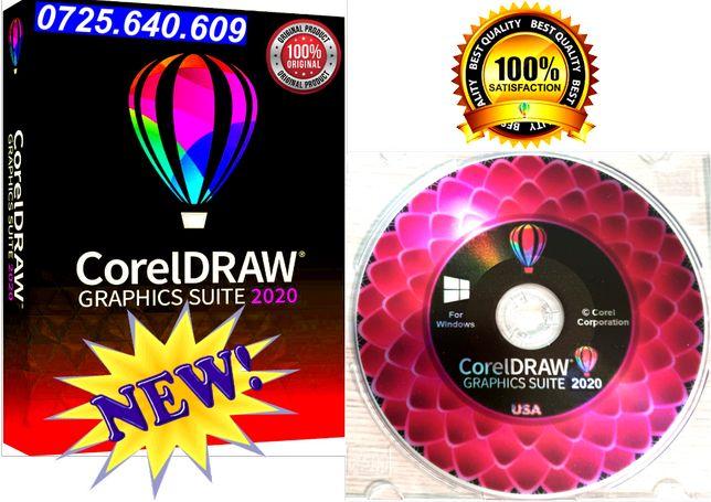 CorelDRAW 2020 DVD SIGILAT- 3 Licente Permanente - FOTO REALA DVD