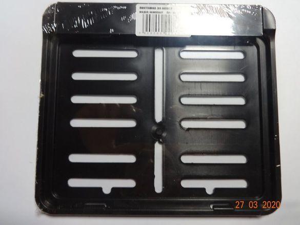 Стойка поставка за регистрационен номер за мотор мото стойка пласмасов