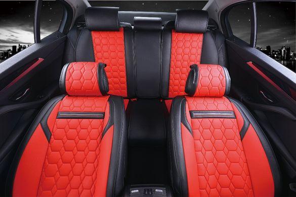 Тапицерия Комплект Лукс Червена Кожена универсална / калъфи за седал