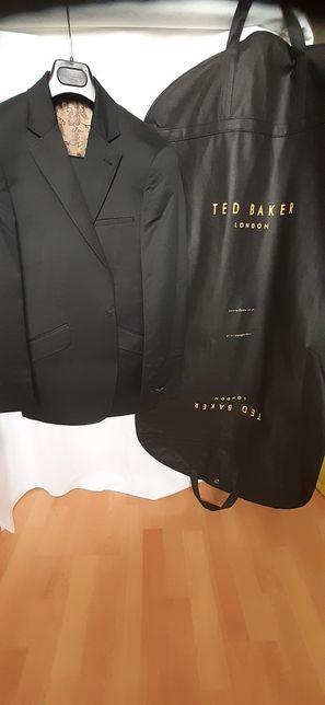 TED BAKER Costum barbatesc negru, incl umeras&husa - Original si Nou!
