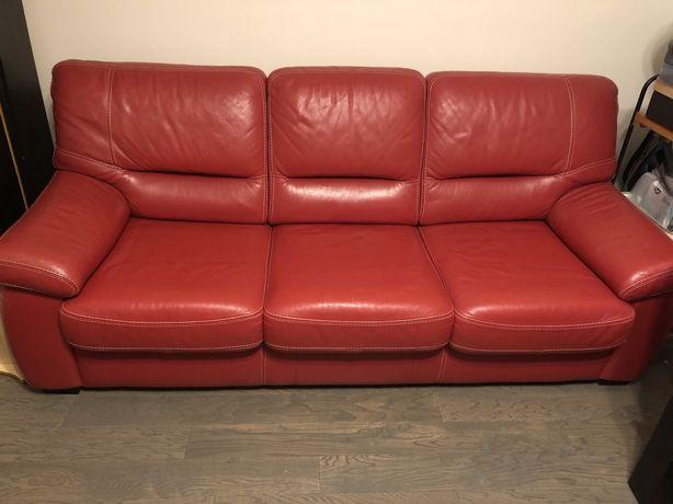 Set canapea 3 locuri extensibila si fotoliu piele Sena - Mobexpert