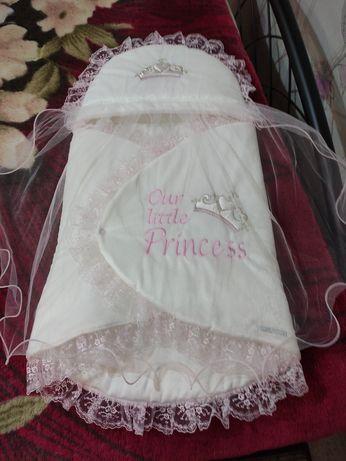 Конверт на выписку для маленькой принцессы