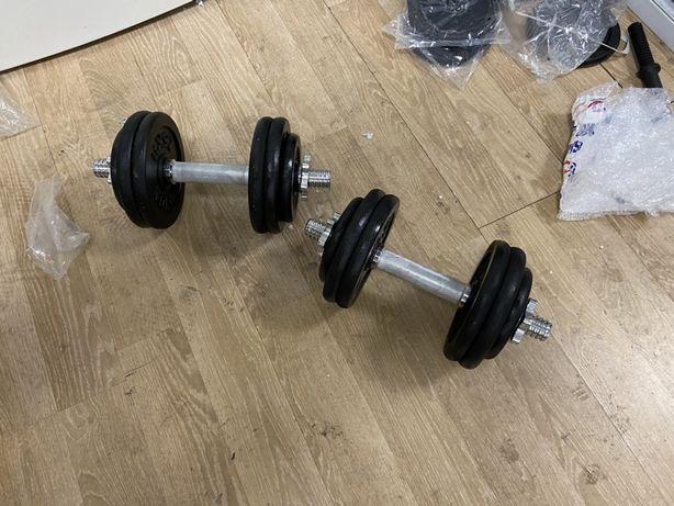 Gantere profesionale reglabile noi 30 kg, 15+15=30 kg noi,pret 450 ron