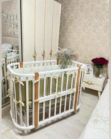 Детская кровать Nuvola Lux,стойки бук.