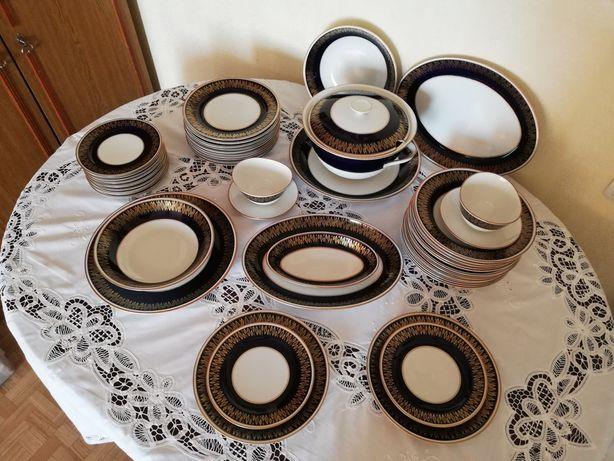 Сервиз столовый Weimar кобальт, набор посуды 12 персон