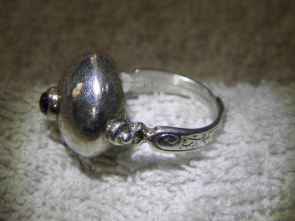 Убийствен Марокански пръстен,сребро и аметист,сложна и красива работа!