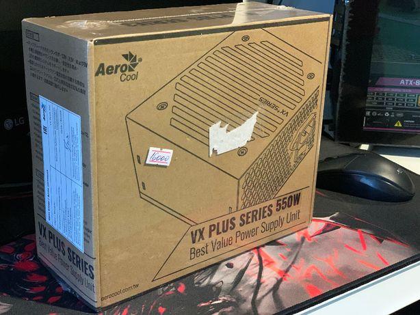 Блок питания Aerocool VX-550 PLUS 550W ATX (24+2x4+6/8пин)