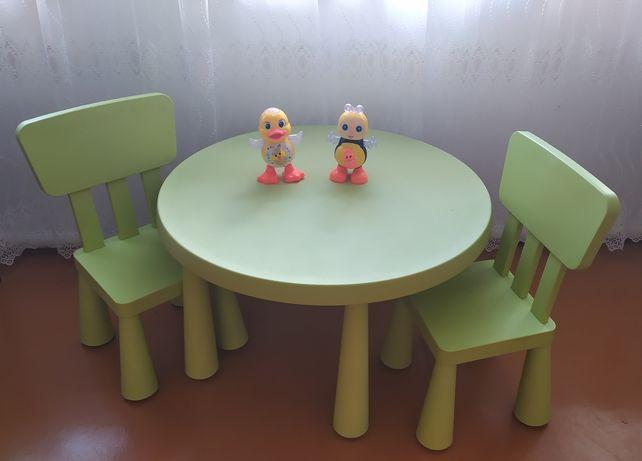 Стол и стулья  Икеа мамут