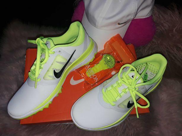 Vand Nike In trend Alb + Neon si ceas asortat Neon