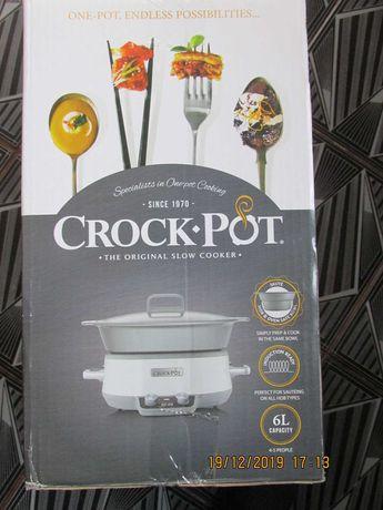 Slow cooker Crock-Pot CSC027X    Digital  Vas ceramica Alb    NOU
