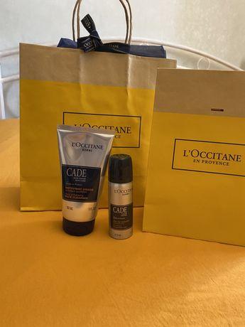 Подарочный набор L'occitane гель для умывания  и пена для бритья