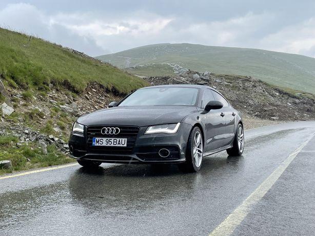 Audi a7 313 cp bi-turb full led distronic camera 360 s line piele