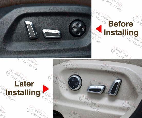 Set butoane reglaj scaun cromate pentru VW sau AUDI