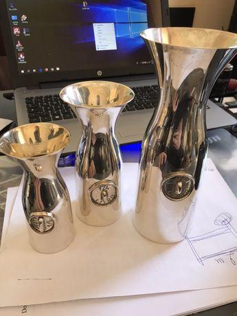 3 decantere pt vin din argint masiv