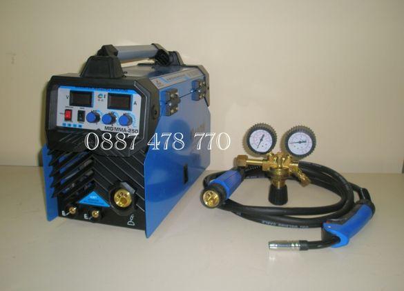 250 А МАХ Инверторен Електрожен с Телоподаващо