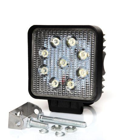 LED 27W халоген - 9 LED Квадрат IP67 за АТВ Мотор Джип Камион Бус идр