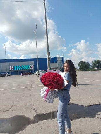 Цветы розы букеты Костанай доставка
