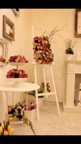 Sevalet din lemn alb antichizat