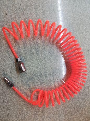 Продава полиуретанов маркуч за компресор гъвкав с конектори