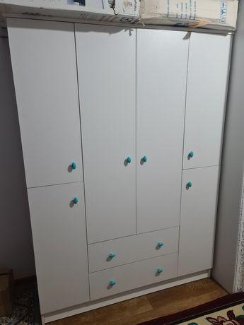 Детский шкаф, белый матовый