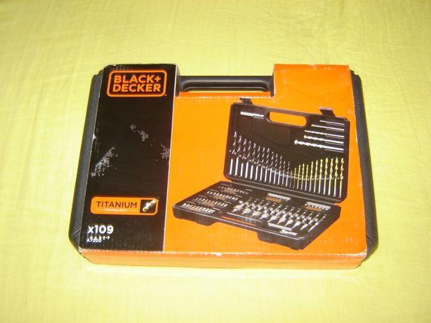 Trusa Black+Decker 109 accesorii Originale noua