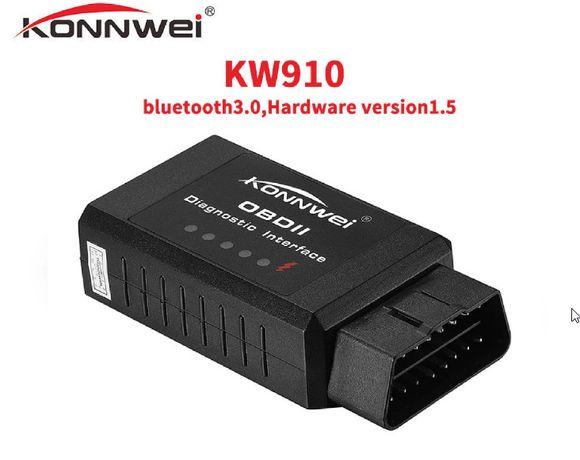 Diagnoza Auto Konnwei KW910, OBD2, EOBD, Bluetooth, Noi, Factura.