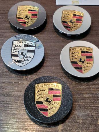 Капачки за джанти на Порше Porsche тъмно сиви и черни