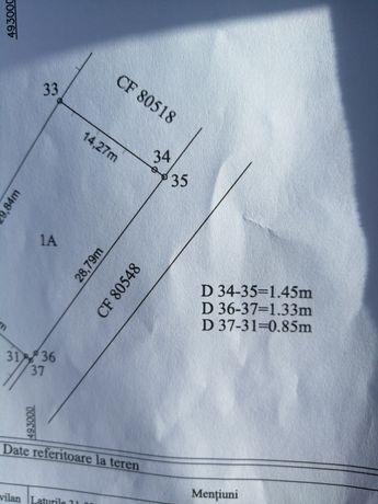 Teren intravilan Bradu suprafață 462 m