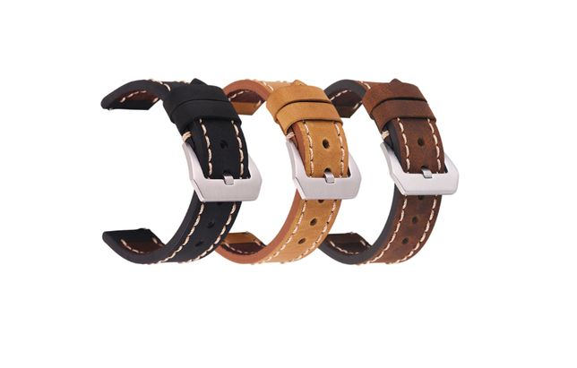 Curele ceas din piele de vitel cu catarama tip panerai - 20/22/24 mm