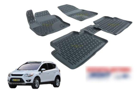 3D автомобилни гумени стелки тип леген за Ford Kuga / Форд Куга (2008-