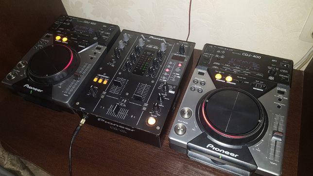 DJ комплект Pioneer 2 x CDJ-400 и DJM-400