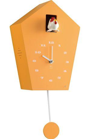 Часы оранжевые с петушком, на подарок