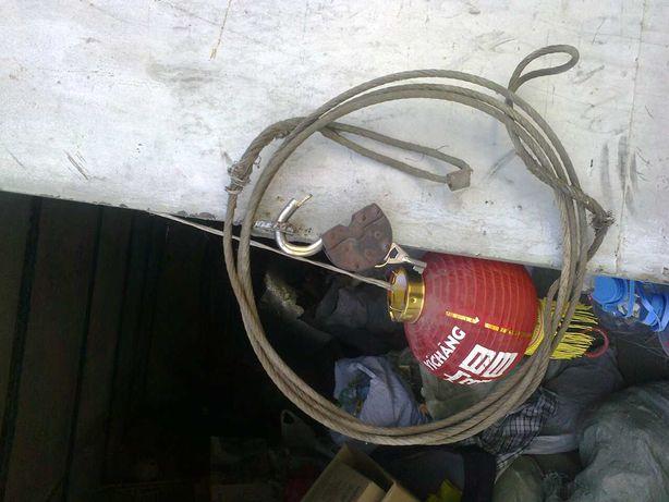 трос буксировочный стальной с двумя петлями советский