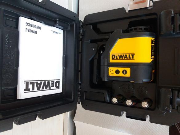 Нов лазерен нивелир Dewalt DW088K.Червен лъч.