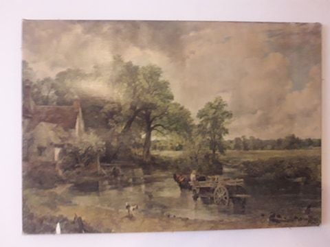 tablou litografie pe panza fara rama