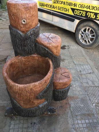 Градински мивки от щампован бетон