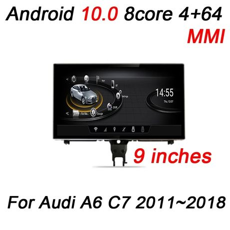 Navigatie GPS Sistem Multimedia Android Audi A6 C7 A7 ecran 9 inch