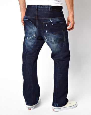 G Star Jeans Grayson Straight Fit Medium Aged