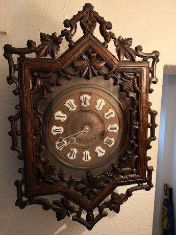 Супер УНИКАЛЕН порцелан супер рядък голям салонен стенен Фр. часовник