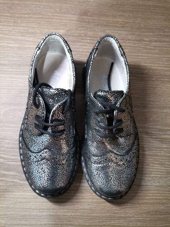 Pantofi fetite argintiu sidef